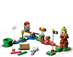 Fans can begin exploring the fun-packed LEGO Super Mario universe with this Adventures with Mario Starter Course (71360), featuring 7 action bricks for different interactions with the LEGO Mario figure LEGO Mario has color sensors, plus LCD screens i...
