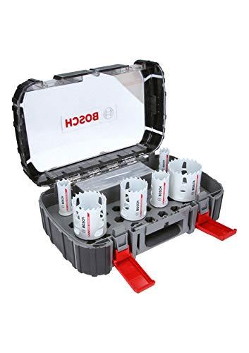 Bosch Professional Endurance for Heavy Duty Set de uso universal con 8 unidades de sierras de corona de carburo (Ø 22/25/35/51/60/68mm, accesorios para taladro)