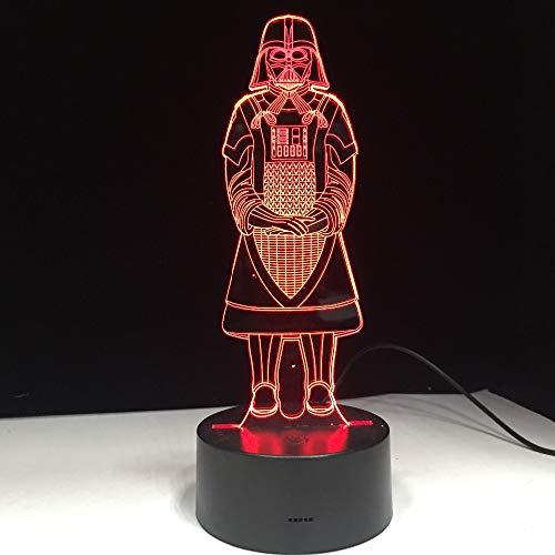 jiushixw 3D acryl nachtlampje met afstandsbediening van kleur veranderende tafellamp tafellamp watt