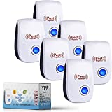 YPR 2021 Ultrasonic Pest Repeller 6 Pack - Upgraded Plug in Indoor Defender for Home - Device Works for Mice Ant Mosquito Spider Rodent Roach Home Invaders