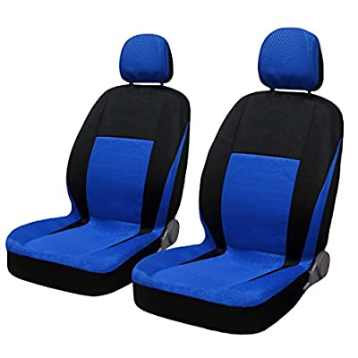 uxcell Spot Fabric Cloth Auto Car Seat Covers with headrests Full set