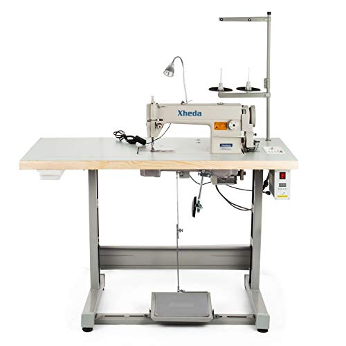 VEVOR Industrial Sewing Machine DDL8700 Lockstitch Sewing Machine with Servo Motor + Table Stand + LED Lamp Commercial Grade Sewing Machine