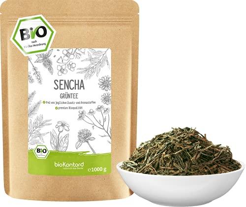 Grüner Sencha Tee BIO 1000 g I lose und geschnitten I aromatischer bio Sencha Grüntee I 100{72a44d8fbaba3c0c340efd7068422b21c98baaf694f5123db7bf17488d09e9c9} natürlich I bioKontor