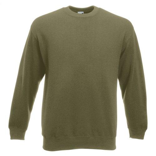 Premium Set-In Sweat - Farbe: Classic Olive - Größe: M