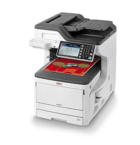 OKI MC853dn Multifunktionsdrucker (Farbe, Kopiere, Drucken, Scannen, Faxen, A3, 23 Seiten/Min., 1.200x600 dpi, LAN, WLAN optional, Duplexdruck, 8.000 Seiten/Monat, max 60.000 Seiten)