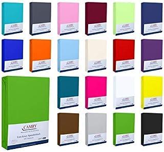 CAMRY | Drap housse en jersey | Drap housse coton | Drap housse violet | surmatelas 140 x 200 – 160 x 200 cm | Matériaux e...