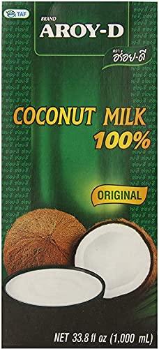 Latte di cocco Aroy-D confezione da 2, senza conservanti confezione da 2 x 1L