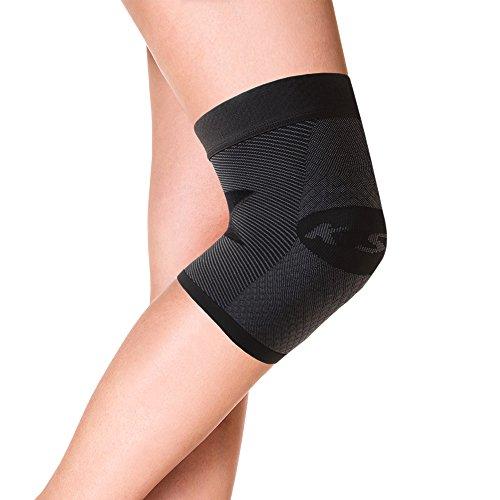 Orthosleeve® KS7 Kniebandage, Schwarz, Größe L. Kompressionstechnologie mit 7 Zonen. Läuferknie, Kniescheibe, ITBS, Schwellung & Arthritis