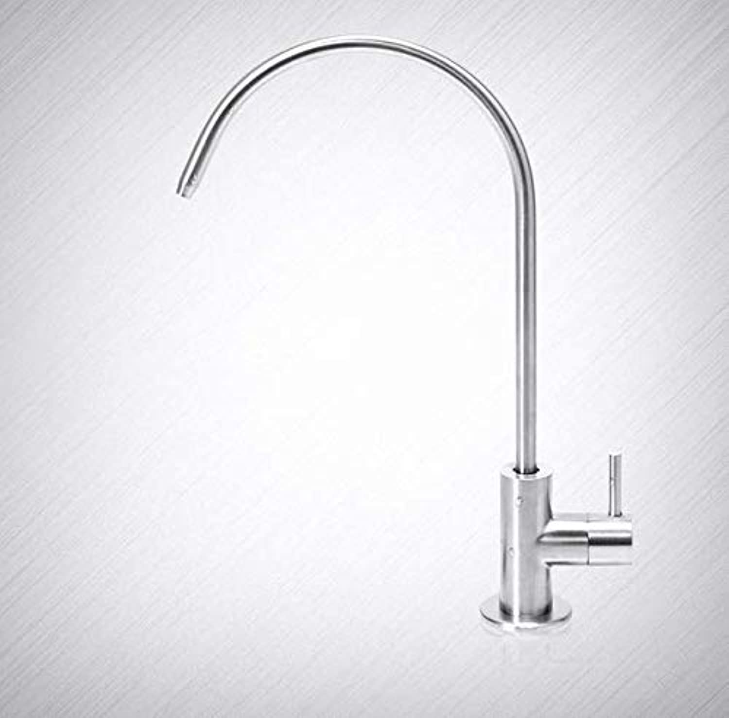 Bathroom Faucet Stainless Steel Water Purifier Straight Drinking Faucet?Single Cold Household Water Purifier Pure Faucet