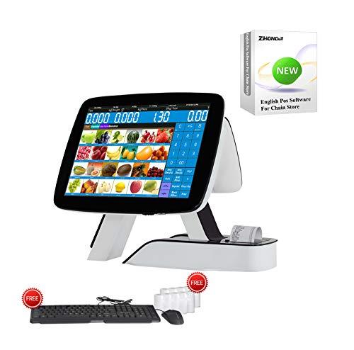 Tactile double écran caisse enregistreuse tout en un avec imprimante thermique intégrée + softwear MSJ POS