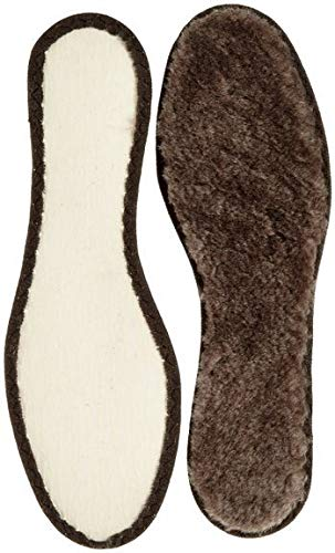 Echte Warme Lammfell Einlegesohle-n Braun I isolierender Texon Boden I Gr.39 I 25cm rutschfest Gr.36-46 (39 EU)