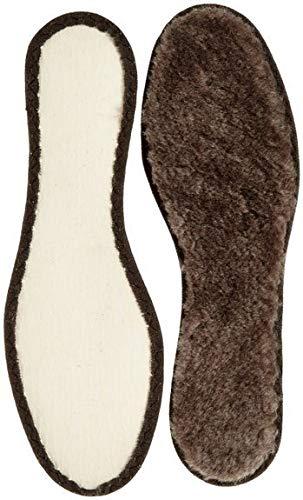 Echte Warme Lammfell Einlegesohle-n Braun I isolierender Texon Boden I Gr.43 I 27,5cm rutschfest Gr.36-46 (43 EU)