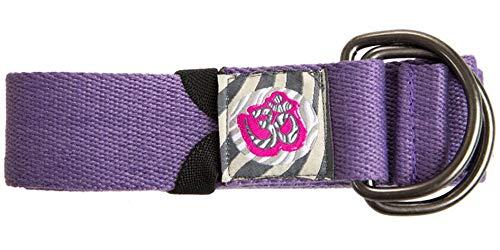 Cinturón Yoga Profesional/Doble Hebilla/Material: 90% Algodón 10% Nylon/Medidas: Largo: 244cm Ancho: 3,8cm (Lila)
