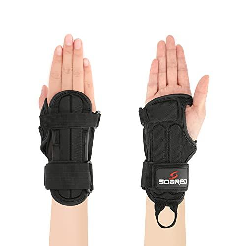 Achort Wrist Pads Schutz Outdoor Sports Protector Armschienen Roller Skating Protector Verstellbare schützende Wrist Pads Schutz für Motorradfahren, Skifahren und Rollschuhlaufen Größe M