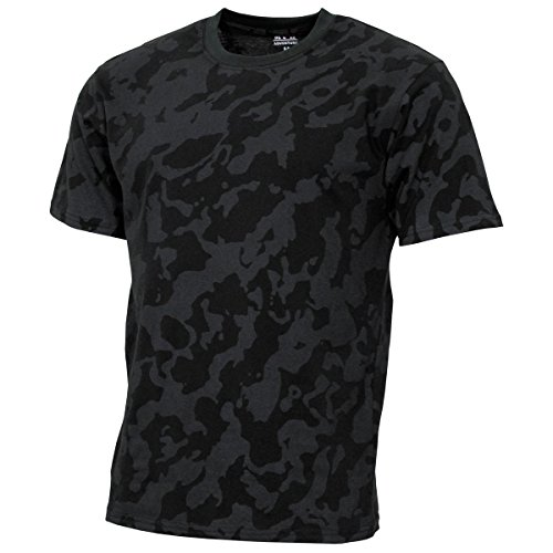 MFH 00130D US Army Herren Tarn T-Shirt Streetstyle (Night Camo/L)