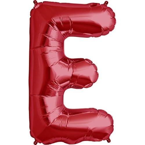Letter E - Red Helium Foil Balloon - 34 inch 5e0fbef810