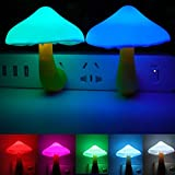 AUSAYE 2Pack LED Night Light Plug in Lamp 7-Color Changing Cute...
