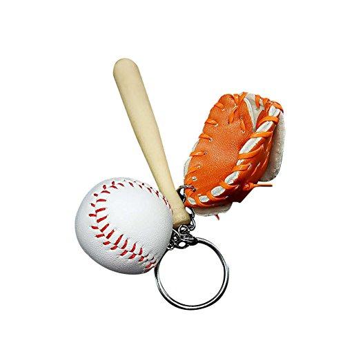 Skyeye 1 Stück Baseball Schlüsselanhänger Tasche Autoschlüssel Anhänger Schlüsselring Schlüssel Anhänger Keychain Orange