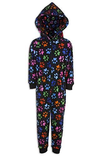 CAMILLE Strampler-Pyjama-Sets für Kinder mit Mehreren Aufdrucken 9-11 Years Black Paw