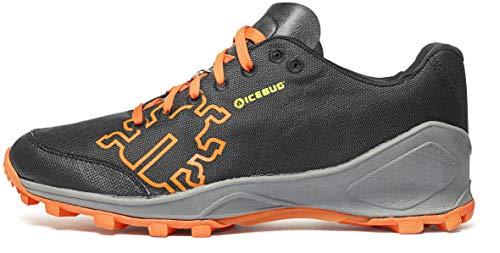 Icebug - Zapatillas Zeal3 M Rb9X para Trail Running Y Swimmrun, Color Negro/Gris, 44.5