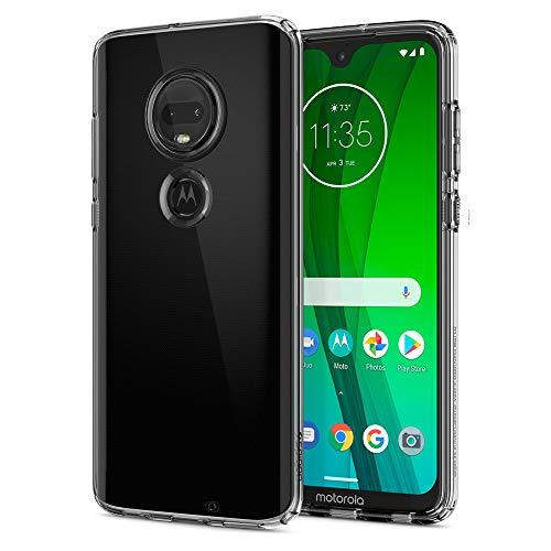 Spigen M25CS25948 Liquid Crystal Kompatibel mit Moto G7 Hülle/Moto G7 Plus Hülle Transparent TPU Silikon Handyhülle Durchsichtige Schutzhülle Hülle Crystal Clear