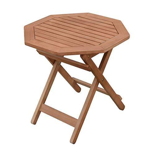 Spetebo Eukalyptus Gartentisch geölt - 50x50cm - Holz Klapptisch Biergarten Bistro Tisch