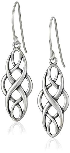Sterling Silver Oxidized Celtic Knot Dangle Earrings