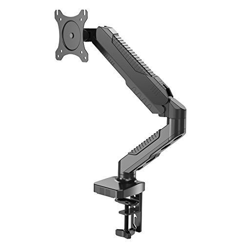 HFTEK Monitor Halter Tischhalterung für Bildschirme 15 bis 34 Zoll (6,5 kg) mit VESA 75/100 (HF12GMCB)