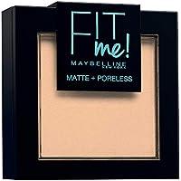 Maybelline New York Fit Me - Polvos Compactos Matificantes y Sin Brillos, Tono 115 Ivory