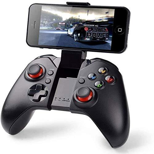 QWER Controlador De Juego Inalámbrico, Teléfono De Apoyo Mobile Wireless Gamepad, Pc (Windows Xp/7/8/8.1/10) Ps3, Android, Vista, TV Box Portable Gaming Joystick Handle