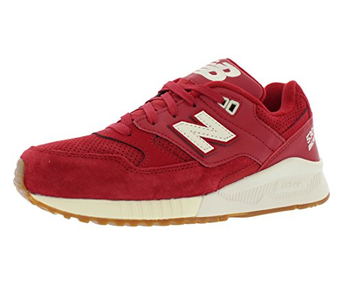 New Balance 530 Solids Womens Shoes Size 5 Red/Off-White