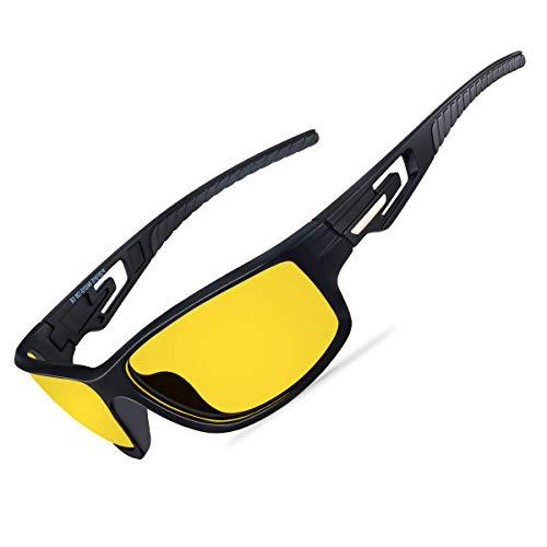 Goiteia Polarisierte Nachtsichtbrille Herren Damen- Nchtbrille zum Autofahren UV400-Schutz, Nachtfahrbrille mit Blendschutz zum Angeln Fahren Radfahren, Ultraleichter TR90-Rahmen