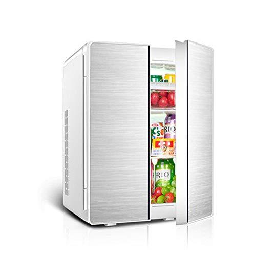 25l Coche De Refrigerador del Coche De Doble Uso Doble Puerta De Mini Congelador 12v / 220v De TensióN Doble Nevera PortáTil MáS FríO Y MáS Caliente Cuadro Compresor - Oro/Plata