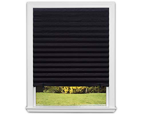 Redi Shade 1617201 Original Blackout Paper, Black, 36 in x 72 in, 6-Pack Pleated Window Shade, 72 in 6-Pack