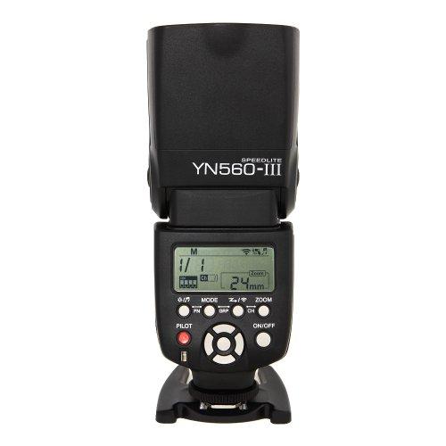 Yongnuo YN560 Mark III YN560-III YN560III Blitzgerät für Canon, Nikon, Pentax, Olympus mit TARION klappbares Softbox und deutscher Gebrauchsanleitung