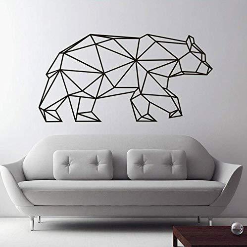Pegatina De Pared Big Bear Habitación Para Niños Patrón Geométrico Animal Tatuajes De Pared Origami Sala De Estar Decoración De Dormitorio 81X42Cm