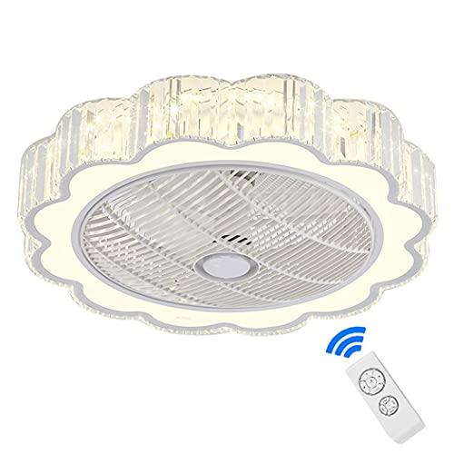 Ventilador de techo con iluminación LED con lámpara, Ventilador de techo invisible ultra silencioso, Velocidad del viento y temperatura de color regulables Sala de estar Dormitorio Comedor