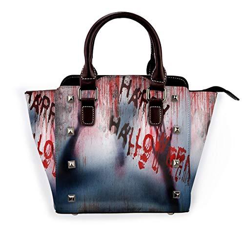 BROWCIN Glückliche Halloween-Szene eines Dämonenmannes mit blutigen Händen Horrible Scary Abnehmbare mode trend damen handtasche umhängetasche umhängetasche