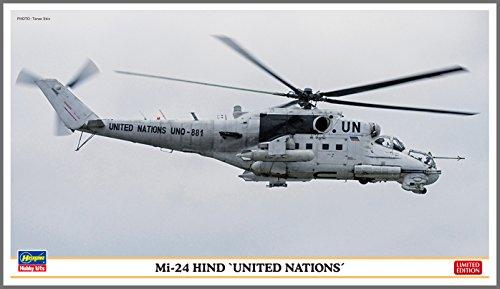 Hasegawa ha21921: 72Escala Mi-24Hind Naciones Unidas plástico Modelo
