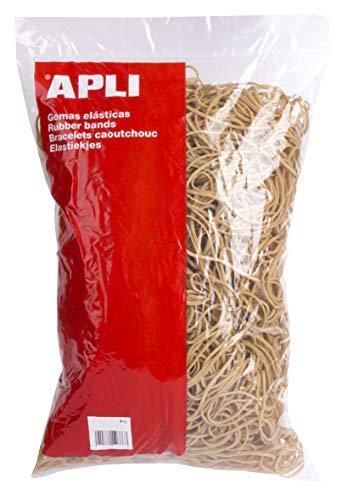 APLI 12866 - Pack de 4000 gomas elásticas, 120 x 2 mm