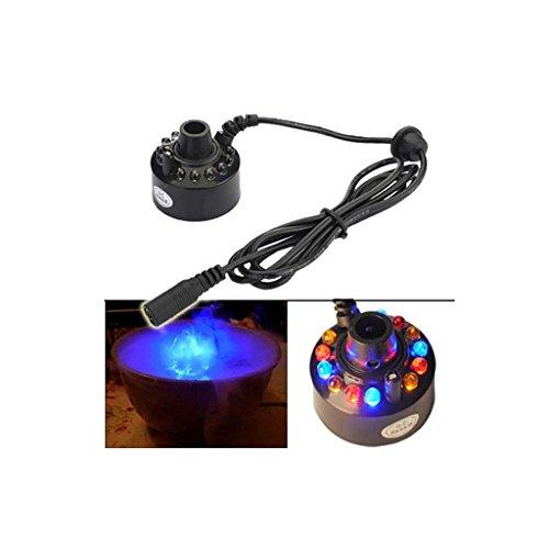 Sharplace LED Nebel Hersteller Maschine, Mist Maker, Luftbefeuchter mit EU Stecker für Brunnen Teich
