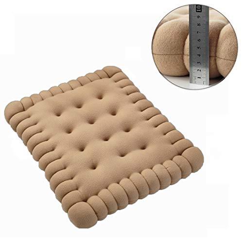 Zachte dikke tatami Tuftted kussen, koekjesvorm stoel kussen eetstoel pad hout zitkussen voor kantoor vrachtwagen naar huis kinderzitje
