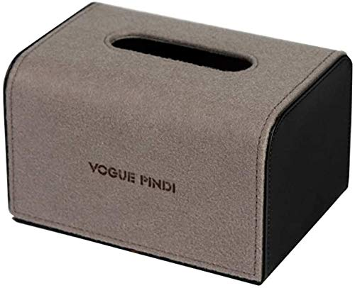 KMILE Caja de pañuelos de almacenamiento decoración personalidad moda restaurante caja de pañuelos simple sala de estar escritorio caja de pañuelos creativo bandeja 18x13x11cm caja de pañuelos
