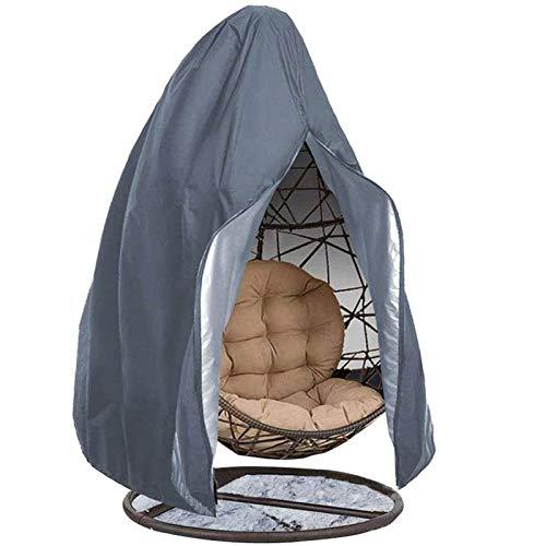 HTLLT Patio Hängende Stuhlhülle,hängende Ei Stuhlbezug Rip Proof Wasserdicht 210D Oxford Stoff Rattan Für Patio Garden Schaukelstuhl,Grey-115 * 190CM