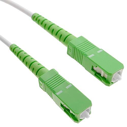 Eflcam Glasfaserkabel (optisches Strumpfband) SC/APC auf SC/APC Monomode, kompatibel mit Orange Livebox, SFR La Box Fibre und Bouygues Telecom Bbox (3 m)