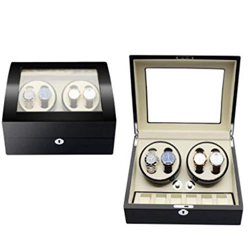 ZCYXQR Enrollador de Reloj automático, Montador de Cuerda mecánico de Mesa giratoria con agitador (Color: 4 + 6a)
