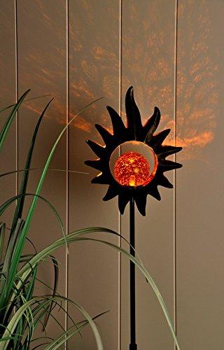 Solar-Gartenstecker LED-Gartendekoration - Solarbeleuchtung in 3 verschiedenen Motiven zur Auswahl (Modell: SONNE)