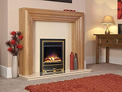 """New Designer Celsi Fire - Hearth Mounted Electric Fire 16"""" Electriflame XD Arcadia Gold"""