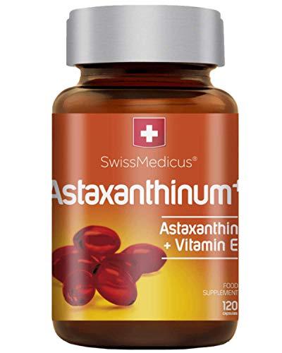 SwissMedicus Astaxanthin [Astaxanthinum+] - das stärkste Antioxidans mit Vitamin E, 4 mg Astaxanthin in 1 Kapsel - 120 Kapseln - Bark entsprechend der Dosierung von 2-3 Monaten - Schweizer Qualität