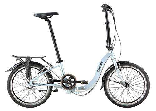 TAKASHI Three Low-Entry, Bicicletta Pieghevole Shimano Nexus, Grigio Opaco, Foldable